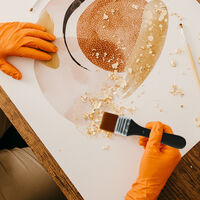 1pc plat Pinceau en nylon Garniture Art Paintbrush Poignee en bois pour Gesso Teintes Peinture acrylique Colles Vernis Huile Gouache Aquarelle Peinture murale de meubles de maison propre, No.5