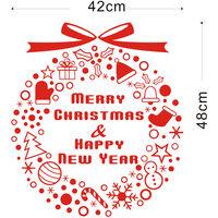 Decoration De Noel Stickers Muraux Amovibles Art Stickers Mural Diy Papier Peint Chambre Decal 42 * 46Cm