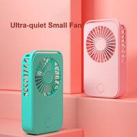 Mini Ventilateur De Poche Usb Rechargeable, Noir