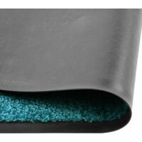 Paillasson lavable Cyan 90x120 cm