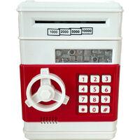 Rouleau automatique Mini Billets stockage de la machine de verrouillage Mot de passe Coin Cash Box (Blanc)