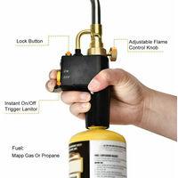 Portable haute chaleur de soudage Plomberie Torches gaz a souder Plomberie Chalumeaux a souder instantane professionnel Brasage flamme