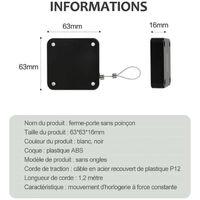 Ferme-Porte Automatique De Tension 800G Tous Les Ferme-Portes Avec Boite De Cable Antivol En Fil D'Acier De 1.2 M, Noir