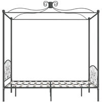 Cadre de lit a baldaquin Gris Metal 120 x 200 cm