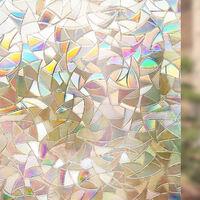 Film De Fenetre Non Adhesif 3D Decoratif Intimite Statique Colle Autocollants De Fenetre Film De Verre, 45*200Cm