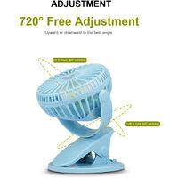 Usb Mini Ventilateur Bureau Cooler Ventilateur Avec Clamp Silencieux Batterie Rechargeable Chargeur Usb (Rose)