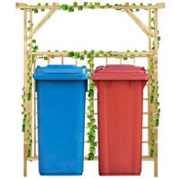 Pergola de jardin pour poubelles doubles Bois de pin impregne