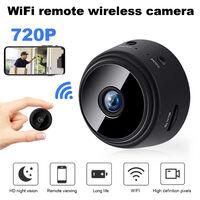 Mini Camera Sans Fil Hd 720P, Camera De Securite A Distance Wifi Domestique, Camera Infrarouge Sans Fil A9, Prise En Charge Maximale De 128 Go