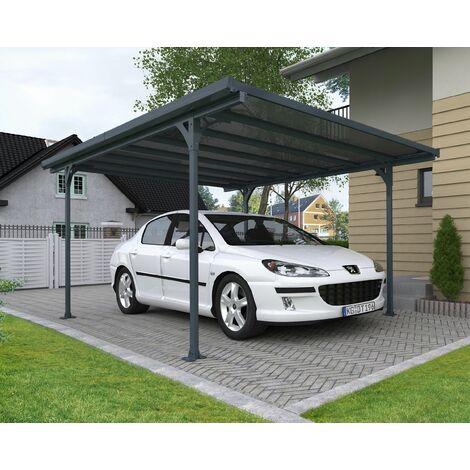 CARPORT VERONA 5000 gris toit plat couleur bronze