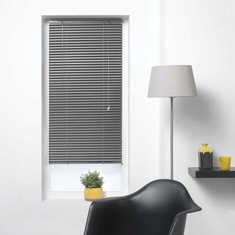 Store vénitien à lamelles 60x180 cm aluminium anthracite - Gris foncé