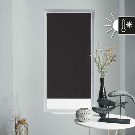 Store enrouleur occultant 45x180 cm Noir - Noir