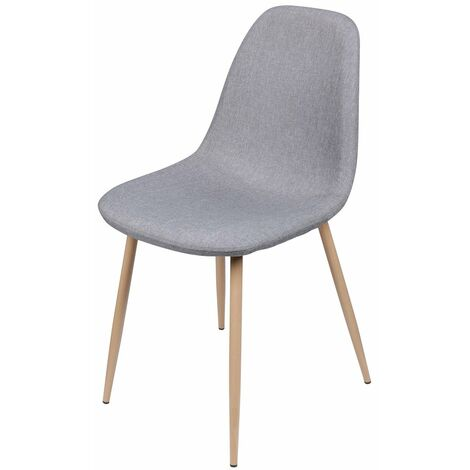Chaise scandinave tissu Oslo grise - Gris