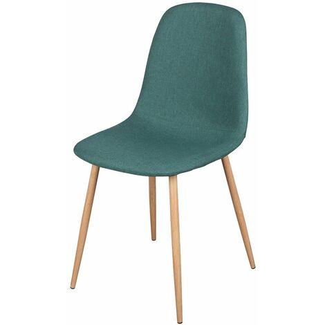 Chaise scandinave tissu Oslo vert - Vert