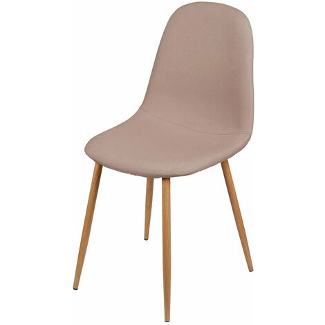 Chaise scandinave tissu Oslo taupe - Beige
