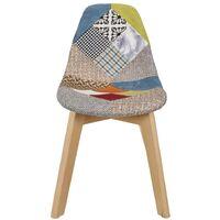 Chaise scandinave patchwork pour enfant - Bleu