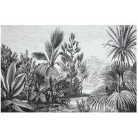 Tapis vinyle 50x75 Safari colonial - Blanc