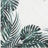 Tapis vinyle 50x75 Safari feuille - Blanc