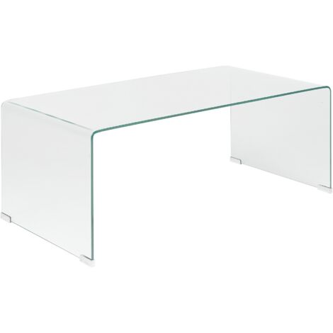 Table basse en verre transparent KENDALL