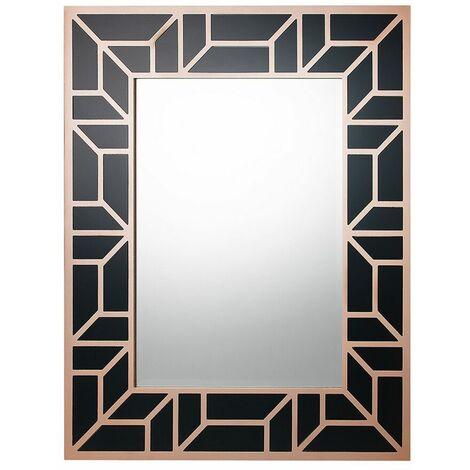 Miroir 80 x 100 cm noir et cuivré LITHAIRE