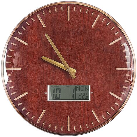 Horloge murale marron doré ø 43 cm BRUGG