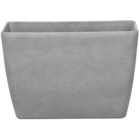 Cache pot en pierre grise rectangulaire BARIS