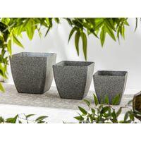 Pot de fleurs gris foncé 49 x 49 x 49 cm ZELI