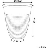 Pot de fleurs gris ⌀50 cm KATALIMA