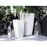 Cache-pot blanc 40 x 40 x 76 cm MODI