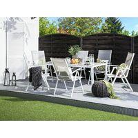 Lot de 6 chaises de jardin en aluminium grises CATANIA