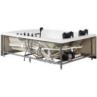 Baignoire balnéo angle côté droit avec LED 180 cm blanche CALAMA