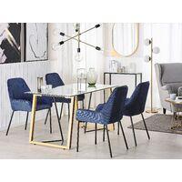 Table à manger transparente et effet bois clair 140 x 80 cm TACOMA