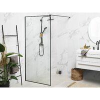 Paroi de douche italienne 90 x 190 cm noire WASPAM