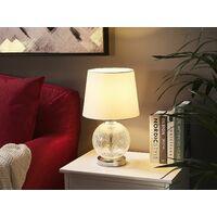 Lampe de table blanche transparente 42 cm SEMME