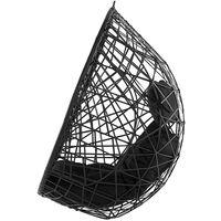 Fauteuil suspendu en rotin noir ø 94 cm ALATRI