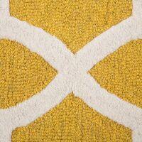 Tapis jaune en laine et coton 160 x 230 cm SILVAN