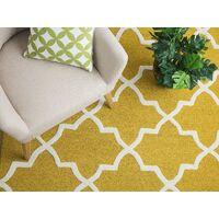 Tapis jaune en laine et coton 80 x 150 cm SILVAN