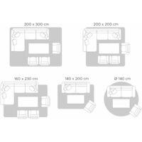 Tapis jaune en laine et coton 140 x 200 cm SILVAN