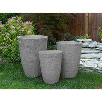 Grand cache-pot gris en pierre en forme de vase CAMIA
