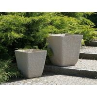Grand cache pot en pierre beige DELOS