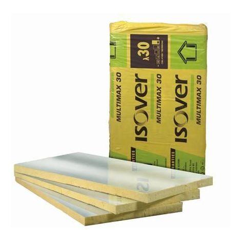 Panneau laine de verre ISOVER MULTIMAX 30 ALU   Ep.45mm 0,6mx1,35m   R=1,5 - paquet(s) de 8.1m²