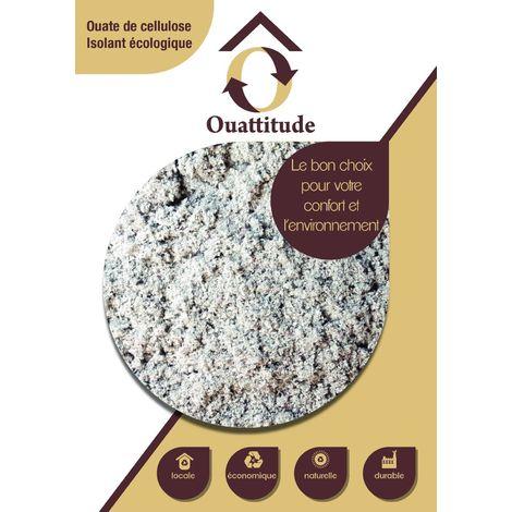 OUATTITUDE Ouate de cellulose en vrac pour l'isolation de combles et l'insufflation - sac(s) de 10kg