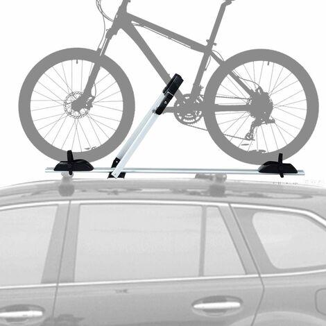 Portabicicletas de Techo con Protección Antirrobo Soporte para 1 Bicicleta de Aleación de Aluminio Barra de Techo