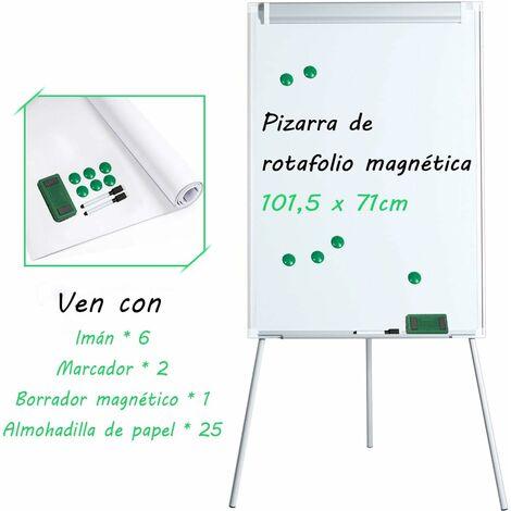 Pizarra Magn�tica Blanca Caballete de Tr�pode de Aluminio Tablero de Escritura Notas con Pie Altura Ajustable para Hogar Oficina