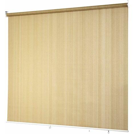 Estor Enrollable Persiana Veneciana con Cadena/ Protección Solar para Patio Oficina (Beige, 181x181cm)