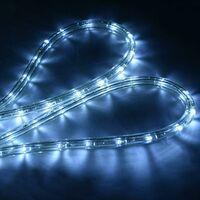 30M Luz Manguera 1080 LED Luces de Navidad Fiesta Jardín Hogar Decoración para Exterior Interior Blanco Frío