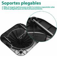 Calentador Solar para Piscina Calefacción de Agua Colector Solar Piscina 57x57x22 Centímetros