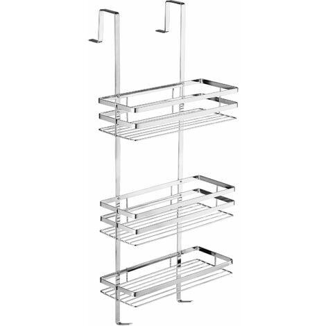 Shower caddy stainless steel - bath caddy, shower basket, hanging shower caddy - silver