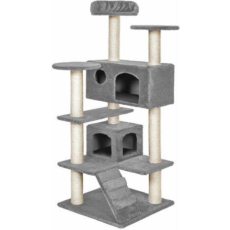 Cat tree Micki - cat scratching post, cat tower, scratching post - grey
