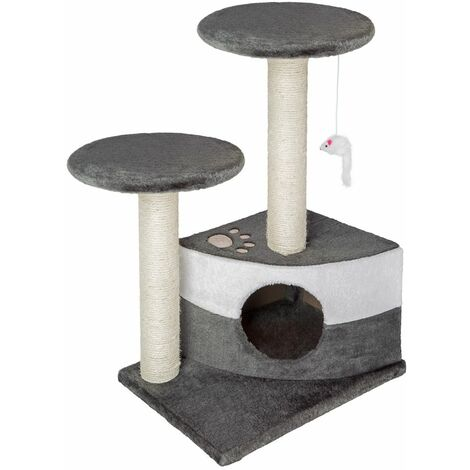 Cat tree Tommy - cat scratching post, cat tower, scratching post - grey/white