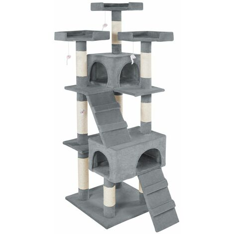 Cat tree Barney - cat scratching post, cat tower, scratching post - grey